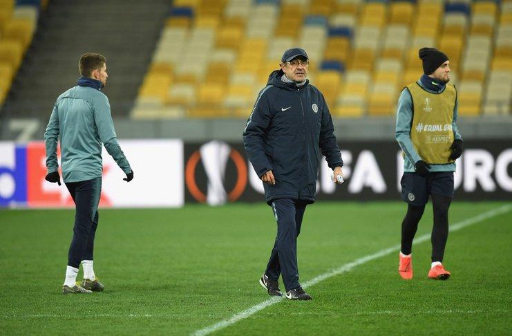 Sarri Beri Kritikan untuk Lapangan Markas dari Dynamo Kyiv